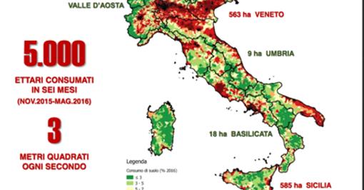 """Legambiente e consumo di suolo in Lombardia, """"segnali preoccupanti"""""""