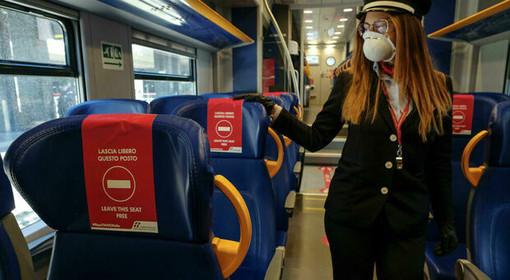Nel vicino Piemonte, da oggi, treni e bus al 50% di capienza