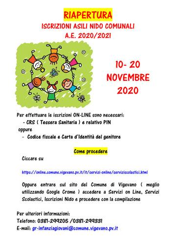 Vigevano: a novembre riaprono le iscrizioni agli asili nido